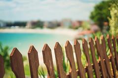 Happy Beach Fence Friday (jennydasdesign) Tags: ocean travel sea vacation beach fence 50mm dof bokeh bulgaria blacksea nesebar hff bulgarien nessebar blackseacoast nesebur svartahavet dt50mmf18sam sonyslta57