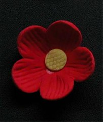 Small Blossom No wire Red 3cm (sweetinspirationsaustralia) Tags: cupcaketoppers