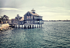 San Diego Pier Cafe at Seaport Village (` Toshio ') Tags: california building water architecture harbor cafe village sandiego toshio sandiegoharbor sandiegopiercafe onthewaterripplewaveseaport