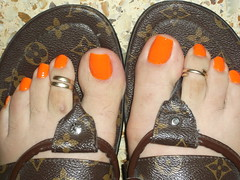 DSCF2170 (sandalman444) Tags: male feet foot toes long toe nail polish rings mens pedicure toering sandal toenails sandalias panited