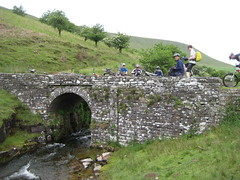 Sheep's head bridge; partway on the big climb. (neil.finnes) Tags: dorset rough brecon beacons riders
