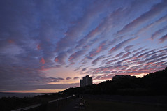 beautiful sky and clouds (dawn.v) Tags: uk sunset england sky lines june clouds seaside dorset seafront bournemouth boscombe wideanglelens bournemouthseafront
