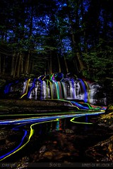 "24 of 52 ""Elements: Color"" (○ Mr. Dean ○) Tags: color canon waterfall newhampshire sigma nh elements 7d 1020mm glowsticks week24 tuckerbrooktownforest 52weeks20 joshuadeanphotography"