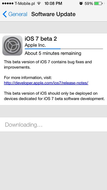 iOS 7 Beta 2 available  #iOS7