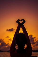 above and beyond (HighHorpes) Tags: above sunset girl beautiful silhouette fun evening hand heart moomin beyond hulhumale