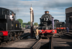 The Yard (Articdriver) Tags: uk summer king shed trains steam staff railways didcot locomotives gwr didcotrailwaycentre 6023