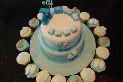 Train Christening cake & cupcakes (Victorious_Sponge) Tags: birthday 2 baby boys cake cupcakes round tier trainchristening