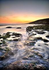 Southerndown at Sundown (Anthony de Schoolmeester) Tags: longexposure sunset sea seascape waves bridgend rockpools southerndown heritagecoast dunravenbay