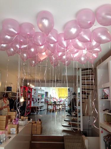 Heliumballonnen Roze Joris en Juul Rotterdam