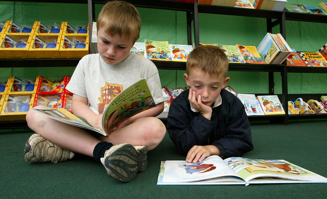 Young readers in the Bookshop at the 2004 Edinburgh International Book Festival