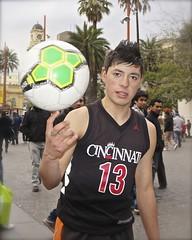 Santiago de Chile downtown (alobos Life) Tags: chile street plaza santiago boy cute ball de nice armas saturday el invierno nio con chilean sbado malabarista baln