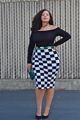 Checkered (GirlWithCurves) Tags: curvy curlyhair plussizefashion girlwithcurves taneshaawasthi