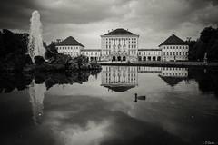 Schloss Nymphenburg (O.Cartu.) Tags: bw parco münchen deutschland europe monaco retro fontana castello germania nymphenburg schlossnymphenburg parknymphenburg 062013