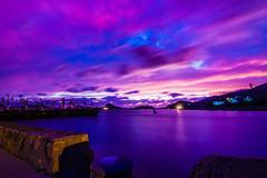 02(the fishingport at night 02) (Carlos*P) Tags: china sunset sea water night canon landscape tokina