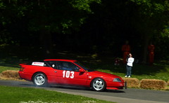 Alpine Lock Up (BenGPhotos) Tags: red sports car race french crystal 1988 palace racing renault alpine brakes gta coupe motorsport v6 lockup 2013