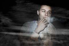 Introducing Donzy Donavin (3) (Shade Without Colour) Tags: music art fall dark model photoshoot cigarette smoke creative smoking rap conceptual rapper