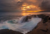 The Grace and Fury of China Walls (rayman102) Tags: sunset seascape landscape hawaii waves oahu hawaiikai portlock chinawall eastoahu watermotion chinawalls 5dmarkii