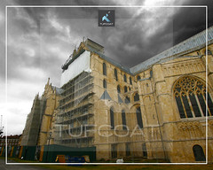 Canterbury Catedral -Tufcoat shrink wrap stained glass window restoration project