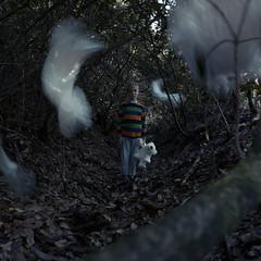 White Nightmare (Morphicx) Tags: boy white night forest dark idea kid scary alone child teddy ghost creative dream teddybear bedtime lonely nightmare create concept scared conceptual