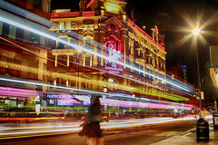 London Hippodrome Night (Olderhvit) Tags: street longexposure travel light england color london night canon photography photo trails hippodrome img3226 colorstreet långexponering resefoto framingthestreet olderhvit