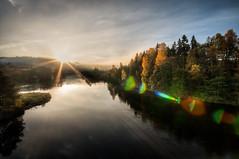Venneslabrua.jpg (Ingvald R Ingebretsen) Tags: oktober sol otra vennesla hst tke soloppgang 2013