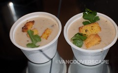 Sodexo's Ocean Wise crab and corn chowder with BC potatoes and spot prawns (Vancouverscape.com) Tags: vancouver events stanleypark vancouveraquarium chowder craftbeer 2013 oceanwise chowderchowdown