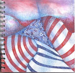 Storm and Ocean in Stripes (molossus, who says Life Imitates Doodles) Tags: giveaway clairefontaine zentangle zendoodle exaclair