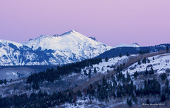First Sunset 2014! (Happy Photographer) Tags: pink sunset mountain snow colorado sanjuanmountains happyphotographer amyhudechek