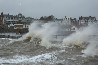 Waves pounding Gorleston-on-sea