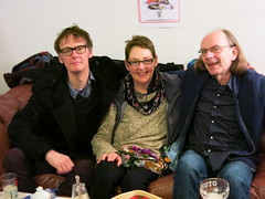 ian fraser, trish fraser & me (Martin Pulaski) Tags: life friends love ian photography trish imagination antwerpen goodtimes autobiography lovepower martinpulaski vinylcoffee 26december2013