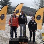 Day 2 slalom U18 Podium - Paul Cotton 2nd, Jeffrey Read 1st, Jack Leitch 3rd