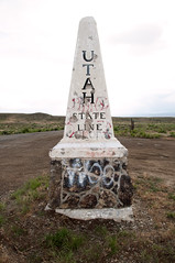 Utah State Line (Curtis Gregory Perry) Tags: 6 abandoned utah us nikon highway colorado state line marker 40 d300