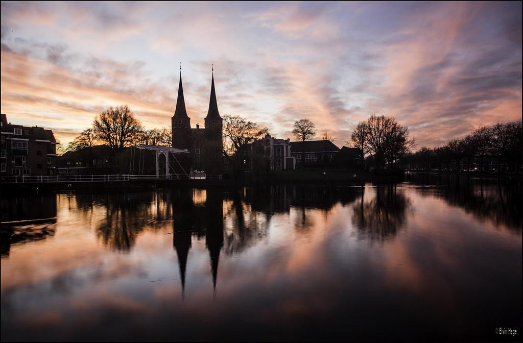 Oostpoort Delft / The Netherlands (zilverbat.) Tags: sunset wallpaper holland classic water