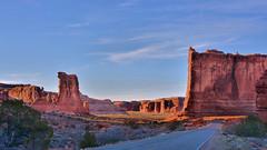 Utah 2014 525 (George Reader DC) Tags: sunset mountains nature utah desert arches erosion moab redrock archesnationalpark nationalparks americanwest desertlandscapes lasalmountains sedimentaryrock naturalshapes destinationsintheamericanwest