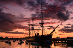 Battle Of The Skies (Explore 28-3-2014) (Sunset Snapper) Tags: old uk sunset clouds boats march nikon harbour famous hampshire filter lee nd portsmouth battleship grad southcoast raining d800 1860 2014 hmswarrior sunsetsnapper battleoftheskies