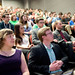 Students listen intently during a town hall with Neil deGrasse Tyson.