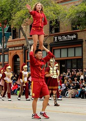 USC Trojan Marching Band (Prayitno / Thank you for (12 millions +) view) Tags: konomark tor tournamentofroses rose parade pasadena ca california young pretty beauty beautiful hot sexy girl mini skirt gameday cheerleader cheerleaders outdoor day time cloudy cheer trojan marching band walk double stack stacked fighton usc universityofsoutherncalifornia
