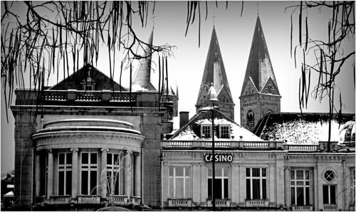 Le casino et Notre-Dame et Saint-Remacle, Spa, Province de Liège, Belgium