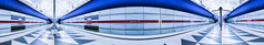 The inner Light (*Capture the Moment*) Tags: 2015 architecture architektur farbdominanz hasenbergl häuserwohnungen innenarchitektur insightview interiordesign munich pano panorama subway ubahn blau blue