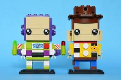Toy Story Brickheadz front (Oky - Space Ranger) Tags: lego brickheadz disney pixar toy story sheriff woody buzz lightyear space ranger cowboy