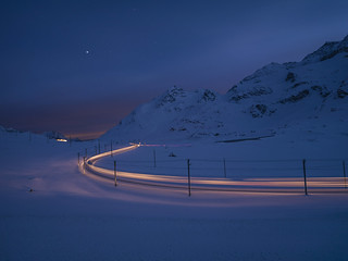 Berninapass, Engadin, Graubünden, Schweiz