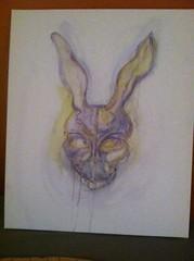 image_2 (Alien_Limb) Tags: frank bunny rabbit painting mixed media donniedarko donnie darko art movie spooky scary watercolor oil pastel acrylic