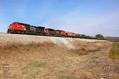 CSX K445-24 (Steve Hardin) Tags: c408w c449w ge csx cn canadiannational railway railroad wa westernatlantic railfan ethanol train emerson ga georgia tankercar