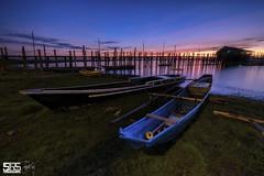 JOYRIDE (jopetsy) Tags: alabang muntinlupa philippines sunrise fish boat landscape landscapes seascape seascapes lake bridge log