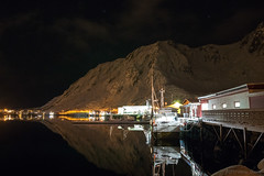 Waiting for tomorrow to come (OR_U) Tags: 2017 oru norway lofoten ballstad harbour fishing calm mountain reflection night nightlights boats stars le longexposure snow winter landscape
