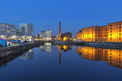 Canning dock Liverpool (saile69) Tags: reflections canning albertdock liverpool mirror bluehour