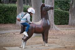 climbing (kasa51) Tags: people child street park climb horse boy yokohama japan うま よじ登る