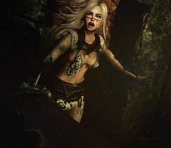 Are You Not Entertained? (*♥* Victoria Loveless *♥*) Tags: sl secondlife virtual 3d woman lady female girl barbarian fantasy warrior gladiator mystical