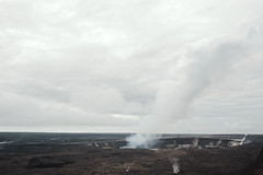 Hell Pit (Geoff Sills) Tags: kilauea caldera volcanoes national park hawaii plume smoke clouds dark desolate desolation destruction earth geology creation pele wide angle nikon d700 35mm 14 geoffrey william sills geoff illumeon digital