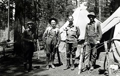 1922. Keen, Durbin, Jaenicke, and Abbey. SONC control project. (USDA Forest Service) Tags: usda usfs foresthealthprotection bureauofentomology forestservice forestprotection stateandprivateforestry controlproject sonc southernoregonnortherncalifornia insect barkbeetle mortality burn forest forestentomology entomologist entomology divisionofforestinsectinvestigations forestinsect insectcontrol wgdurbin ajjaenicke harveyabbey fpkeen may1922 1922 bur3211 fpk91 camp williamgdurbin billdurbin